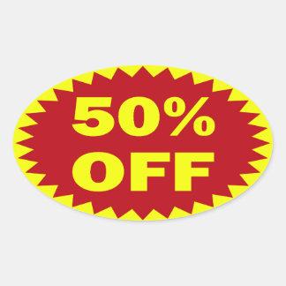 50% OFF OVAL STICKER