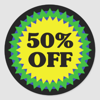 50 OFF RETAIL SALE Sticker