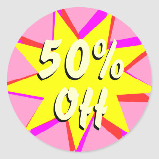 50% Off Retail Sale Stickers