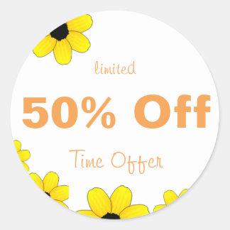 50% Off Sticker special sale