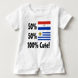 50% Paraguayan 50% Uruguayan 100% Cute Baby Bodysuit