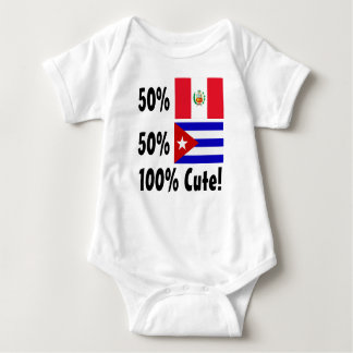 50% Peruvian 50% Cuban 100% Cute Baby Bodysuit