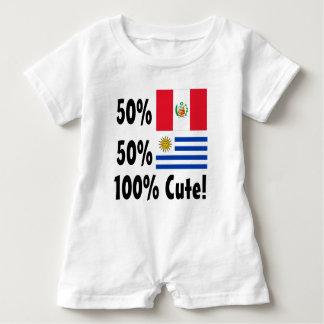 50% Peruvian 50% Uruguayan 100% Cute Baby Bodysuit