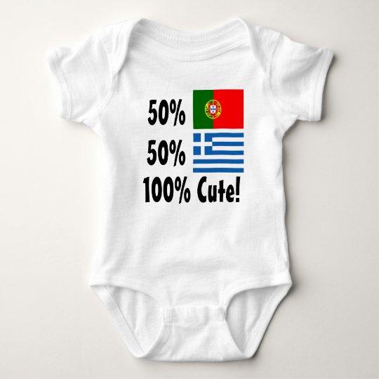 50% Portuguese 50% Greek 100% Cute Baby Bodysuit