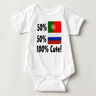 50% Portuguese 50% Russian 100% Cute Baby Bodysuit