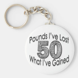 50 Pounds Lost Keychain