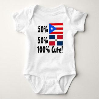 50% Puerto Rican 50% Dominican 100% Cute Baby Bodysuit