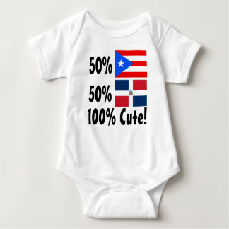 50% Puerto Rican 50% Dominican 100% Cute T-shirts