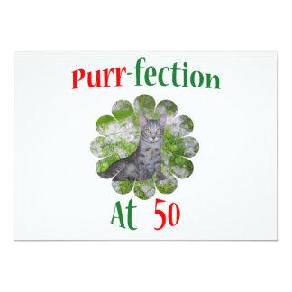 50 Purr-fection 13 Cm X 18 Cm Invitation Card