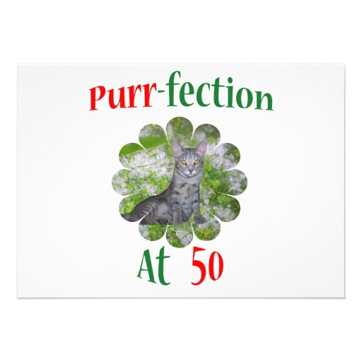 50 Purr-fection Invitation