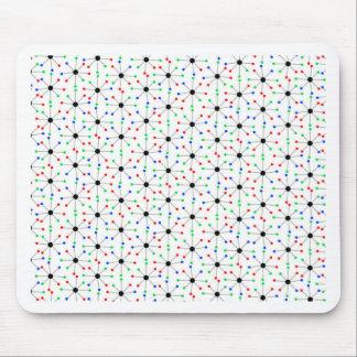 50 s Sputnik Retro Pattern Mouse Pad