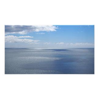 50 shades of blue photo print