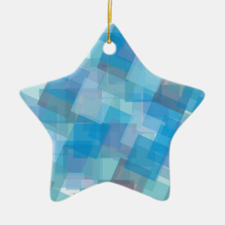 50 Shades of Blue Squares Pattern Colours Christmas Ornament