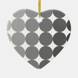 50 Shades of Grey Circles Ceramic Heart Decoration