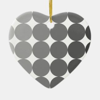 50 Shades of Grey Circles Christmas Ornament