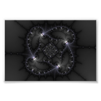 50 Shades Of Grey - Fractal Art Photographic Print