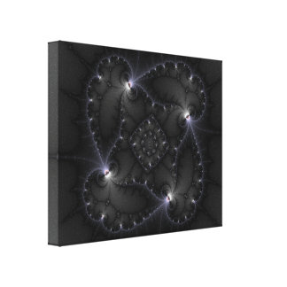 50 Shades Of Grey - Fractal Art Stretched Canvas Print