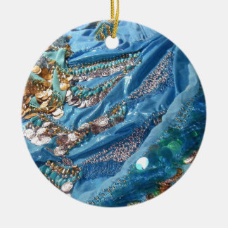 50 Shades of Turquoise Christmas Ornament