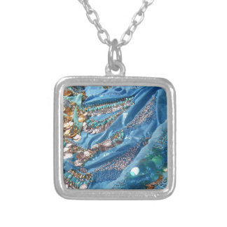 50 Shades of Turquoise Silver Plated Necklace