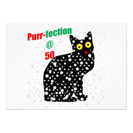 50 Snow Cat Purr-fection Custom Invitation