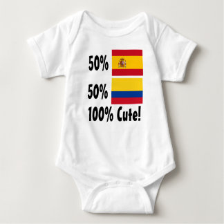 50% Spanish 50% Colombian 100% Cute Baby Bodysuit