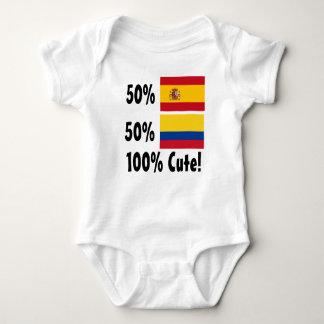 50% Spanish 50% Colombian 100% Cute Tshirts