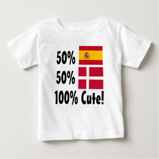 50% Spanish 50% Danish 100% Cute Baby T-Shirt