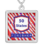 50 States Finisher by Vetro Jewellery Necklace