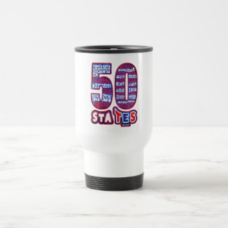 50 STATES THE USA TRAVEL MUG
