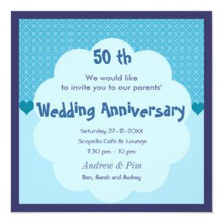 50 th Wedding Anniversary Invitation
