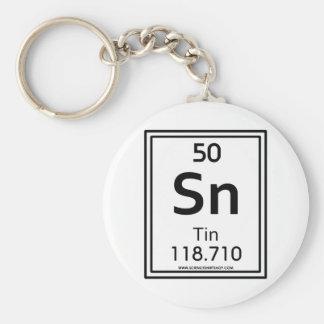 50 Tin Basic Round Button Key Ring