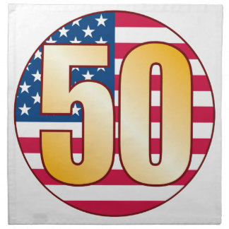 50 USA Gold Napkin