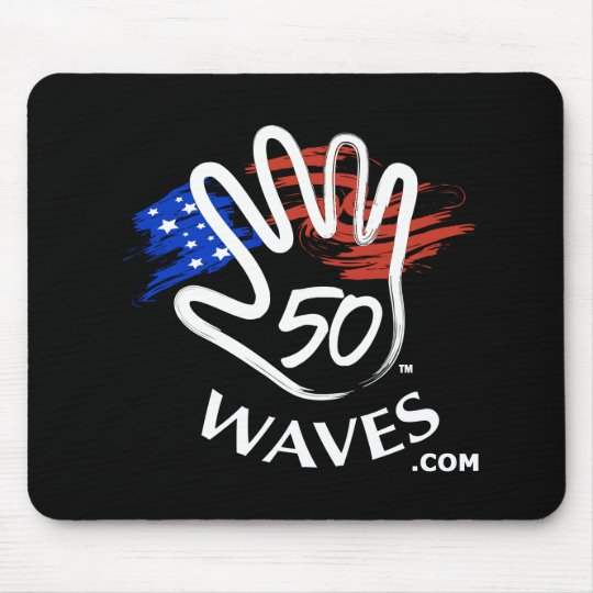 50 Waves Mousepad Black
