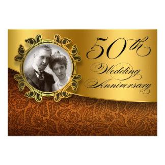 50 wedding anniversary photo invitations