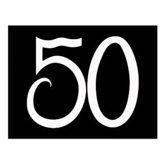 50 White Postcard