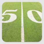 50 Yard Line Square Sticker