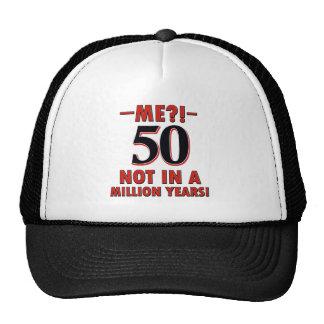 50 year birthday designs cap