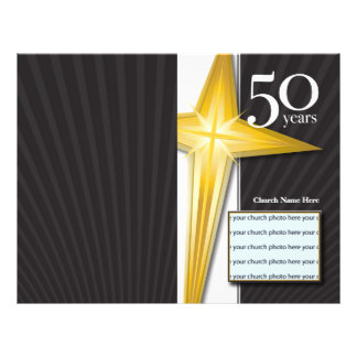 50 Year Church Anniversary Bulletin 21.5 Cm X 28 Cm Flyer