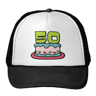 50 Year Old Birthday Cake Cap