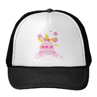 50 Year Old Birthday Cake Mesh Hats