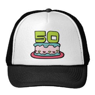 50 Year Old Birthday Cake Mesh Hat