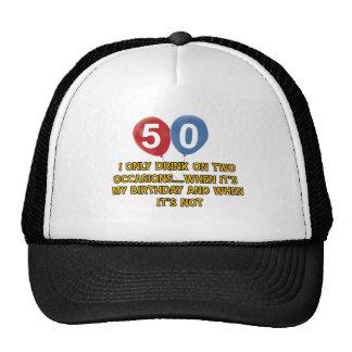 50 year old birthday designs mesh hats