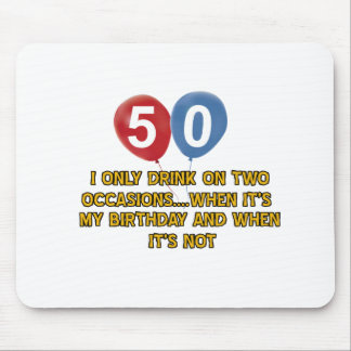 50 year old birthday designs mouse pad