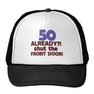 50 year old birthday gifts mesh hats