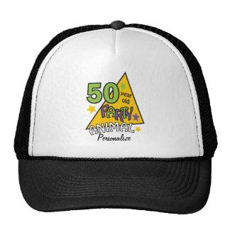 50 Year Old Party Animal   50th Birthday  DIY Name Cap