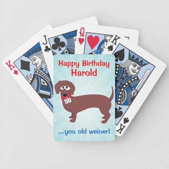 50 Year Old Weiner Custom Poker Deck