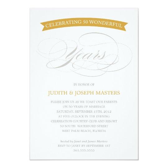 50 YEARS BANNER | 50TH ANNIVERSARY INVITATION