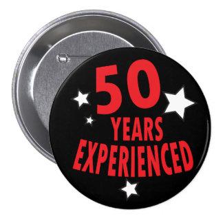 50 Years Experienced   50th Birthday Humor 7.5 Cm Round Badge