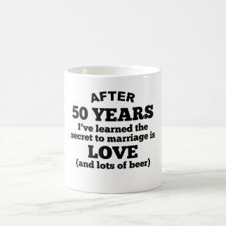 50 Years Of Love And Beer Coffee Mug