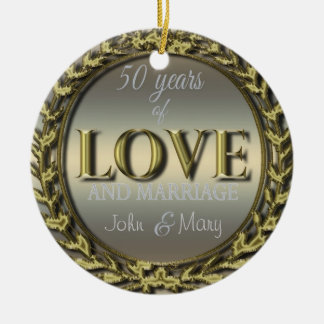 50 Years of Love ID196 Christmas Ornament